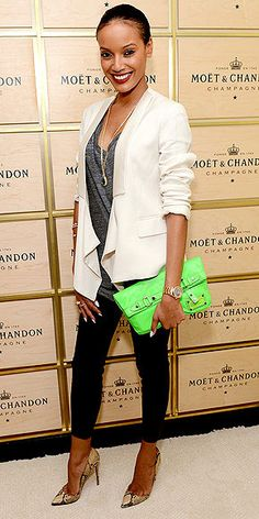 Why pick between two statement pieces? Selita Ebanks pulls off neon and snakeskin in a totally wearable way: http://www.peoplestylewatch.com/people/stylewatch/gallery/0,,20614935,00.html#21206186