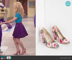 Liv's floral heels on Liv and Maddie.  Outfit Details: http://wornontv.net/51675/ #LivandMaddie