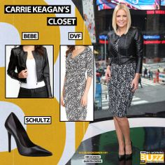 Jacket: Bebe Black Studded Cropped Leather Jacket - $299 Similar Dress: DVF Bentley Ruched Silk Jersey Dress - $365 Pumps: Schultz Gilberta -$200 Chelsea Lately, Greg Gutfeld, Cropped Leather Jacket, Fox News Channel, Get The Look, Carry On, Girly, Pumps, Actresses