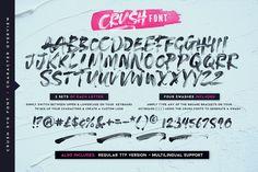 Crush Svg Font Desktop Font Webfont Youworkforthem In 2020 Lettering Text Layout Lettering Fonts