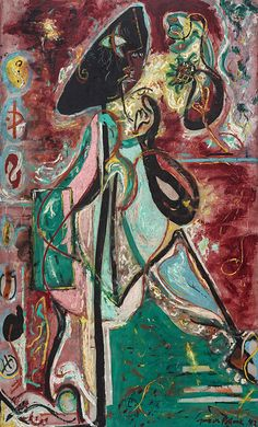 Collection Online | Jackson Pollock. The Moon Woman. 1942 - Guggenheim Museum