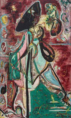 Collection Online | Jackson Pollock. The Moon Woman. 1942 - Guggenheim Museum