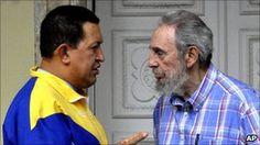 Hugo Chavez and Cuba's former president Fidel Castro in file photo from November 2010 Fidel Castro, Former President, Bbc News, Cuba, Presidents, November, Profile, Key, Mens Tops
