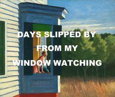 pinkfloydart:  Coming Back To Life- Pink Floyd /Cape Cod Morning- Edward Hopper