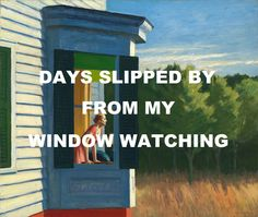 pinkfloydart: Coming Back To Life - Pink Floyd / Cape Cod Morning - Edward Hopper