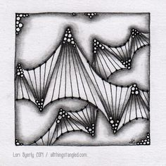 focus on twing © Lori Byerly tangle patterns: twing, tipple & coaster