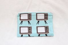 Handmade Cotton Pouch Purse in Aqua Riley Blake by BettysBoutiques, £8.00
