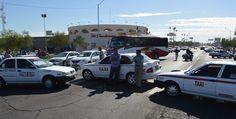 Taxistas se manifiestan contra Uber