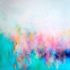 Colour palette: Aqua, blue, pink, peach white