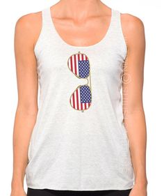 Etsy American Flag Tank Top, Vintage style Tank Top, American Flag Tank, Fourth of July Tank, Country Con Vintage Tops, Vintage Style, American Flag Tank, Racerback Tank, Casual Looks, Vintage Fashion, Sunglasses, Tank Tops, Cotton