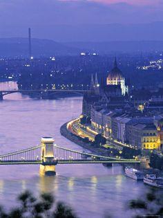 Chain Bridge and Danude, Budapest, Hungary