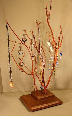 Jewelry Stand  Twin Branch Manzanita  983 by RedBarkDesigns, $37.00