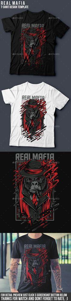 Real Mafia T-Shirt illustration Design Vector EPS, Transparent PNG, AI Illustrator. Download here: http://graphicriver.net/item/real-mafia-tshirt-design/16272425?ref=ksioks
