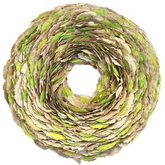 Layered Leaves Wreath - love the pops of green!