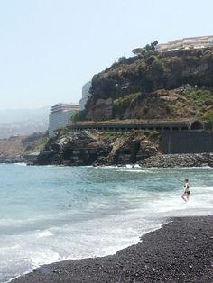 Tenerife, beach in Puerto de la Cruz