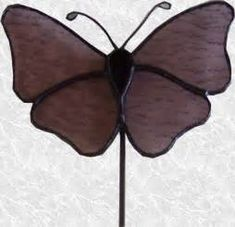 OnlineGlass.net - Stained Glass Butterfly Garden Stake