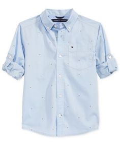 Tommy Hilfiger Micro Flags Shirt, Little Boys (2-7) - Blue 7