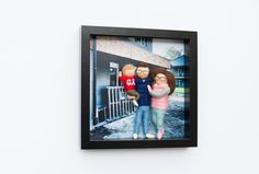 Needle felted, personalized dolls, family portrait in frame Family Portraits, Needle Felting, Polaroid Film, Dolls, Frame, Home Decor, Family Posing, Baby Dolls, Picture Frame