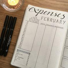 Bullet journal expenses tracker. | @hayleighreidart