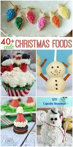 40 Cute Christmas Food Ideas for kids of all ages. These treats are simple, festive and sure to put a smile on your face.
