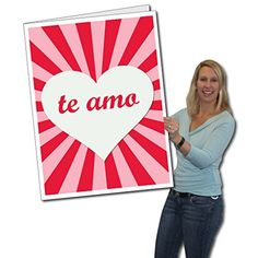 2x3 giant valentines day card te amo spanish quote