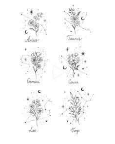 Julia Mo on Instagra Horoscope Tattoos, Taurus Tattoos, Astrology Tattoo, Sagittarius Tattoo Designs, Tattoo Drawings, Body Art Tattoos, Sleeve Tattoos, Tatoos, Tattoo Sketches