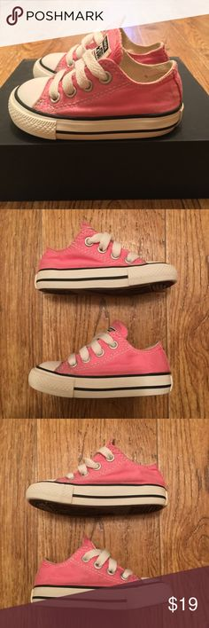 [Converse] Gently Used Pink All Star Infant Sz 4 Gently used pink Converse All Star, infant size 4. Great Condition (see photos). Converse Shoes Sneakers