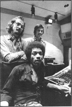 Hendrix with Eddie Kramer & Jim Marron: Electric Lady Studios, New York City 1970