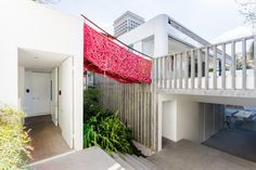 Modern, colorful home with creative artwork and sculpture