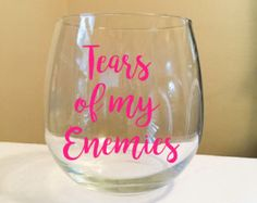 Sole Sisters Stick Together Stemless Wine Glass by thiscrazylifeDESIGNS on Etsy