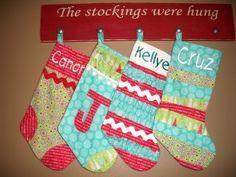 homemade christmas stockings - Google Search