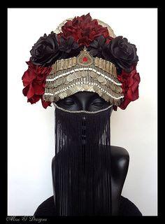 gothic tribal headdress - caley johnson [missgdesignsshop etsy]