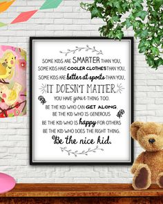 Be the nice kid and parents, teach your kids how to be nice! Future Classroom, Classroom Decor, Chalkboard Classroom, Chalkboard Art, Classroom Organization, Classroom Management, 1st Day Of School, Beginning Of The School Year, Kids Bulletin Boards