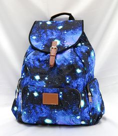 ... Victoria's Secret PINK Celestial Cosmic Galaxy Blue Backpack School///I NEED THIS LIKE U NEED AIR///