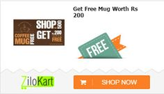Get Free Coffee Mug worth Rs. 200 from zilokart.com on purchase of 500 & above.