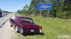 Bjørn Inge Max and the Wild Bird have now reached Mississippi! Honk your horns if you meet these guys along the road. If you're fast and manages to snap a photo of the old Ayala Custom we would love to see it! Go Kustom Go!!!