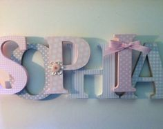 Baby crafts For Nursery - Nursery wooden wall letters in pink and gray nursery letters child's name 8 wall letters initial monogram Girl Nursery, Girl Room, Baby Room, Nursery Decor, Nursery Letters Girl, Princess Nursery, Babies Nursery, Princess Room, Girls Bedroom