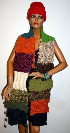 handgestrickter Schal Shawls, Bunt, Different Colors, Scarves, Colours, Ponchos, Scarf Crochet, Handarbeit, Breien
