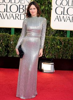 Emily Mortimer wearing Jenny Packham at The 2013 Golden Globe Awards