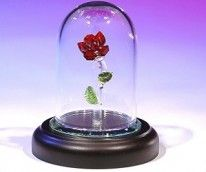 crystal enchanted rose- Beauty and the Beast