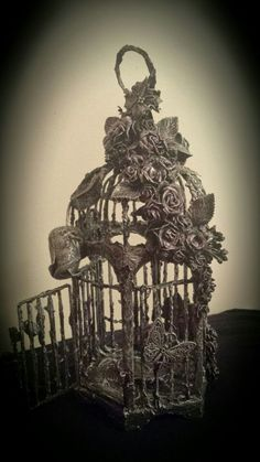 Mixed Media Art - Birdcage From a different angle
