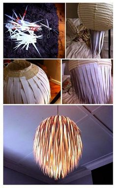 Creative Diy Chandelier Lamp And Lighting Ideas 78 image is part of 90 Fantastic Creative DIY Chandelier Lamp & Lighting Ideas gallery, you can read and see another amazing image 90 Fantastic Creative DIY Chandelier Lamp & Lighting Ideas on website Home Crafts, Fun Crafts, Diy And Crafts, Recycled Crafts, Recycled Materials, Recycled Lamp, Wooden Crafts, Natural Materials, Diy Luz