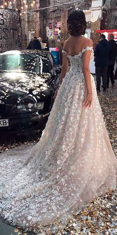 The classic A line dress is among the bridal gown. Of all the bridal gown on the marketplace today A line wedding gowns are the finest. Western Wedding Dresses, Dream Wedding Dresses, Bridal Dresses, Wedding Gowns, Dresses Uk, Wedding Bride, Lace Wedding, Lace Bride, Autumn Wedding