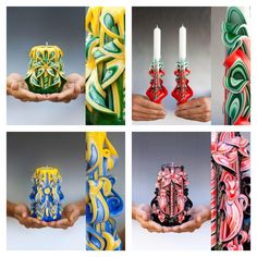 How Made Hand Colorful Carved Candles