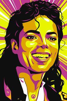 Tribute to the Legend (Michael Jackson) Michael Jackson Painting, Michael Jackson Drawings, Michael Jackson Wallpaper, Pop Art Portraits, Portrait Art, Illustration Vector, Vector Art, Images Pop Art, Art Sketches