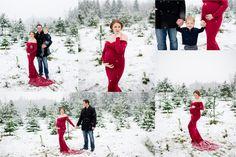 Snow Maternity, Red maternity dress, #amylewisphotography Wedding, Family, Senior Photography