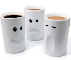 Coffee mugs to fit your morning mood!!  Love them!  I don't need the one on the left lol