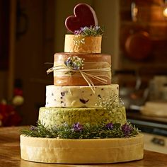 the dorchester 6 tier cheese celebration cake serves Cheese Wedding Cake Inspiration for You - CowlesNCP ~ Make your Wedding Ideas Unusual Wedding Cakes, Wedding Cakes With Flowers, Beautiful Wedding Cakes, Cake Flowers, Sugar Flowers, Orange Flowers, Cheese Tower, Cheesecake Wedding Cake, Naked Cakes
