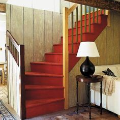 House Parts You Didn't Know Had a Name: Kite Winder: The middle of a set of three wedge-shaped stair steps, or winders, that together make a 90-degree turn.
