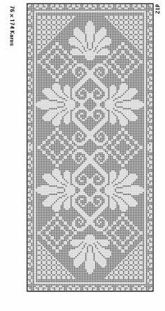 Filet crochet chart for a rose Filet Crochet Charts, Crochet Doily Patterns, Loom Patterns, Thread Crochet, Crochet Motif, Crochet Designs, Crochet Stitches, Knit Crochet, Crochet Table Runner